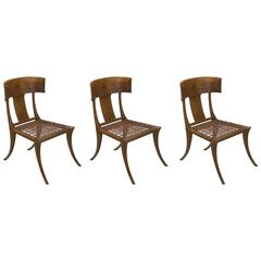 T.H. Robsjohn-Gibbings Klismos Chairs by Saridis, Athens