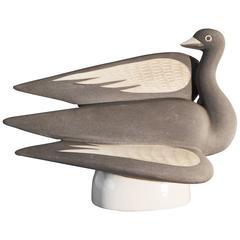 """Gray Swan,"" Iconic Art Deco Sculpture by Waylande Gregory"