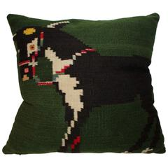 Mexican Indian Weaving Donkey Pillow