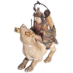 Antique Japanese Statue of Dakini Ten