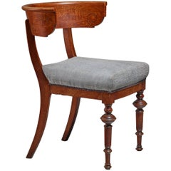 Oak Klismos Chair with Sculpted Front Legs, Denmark