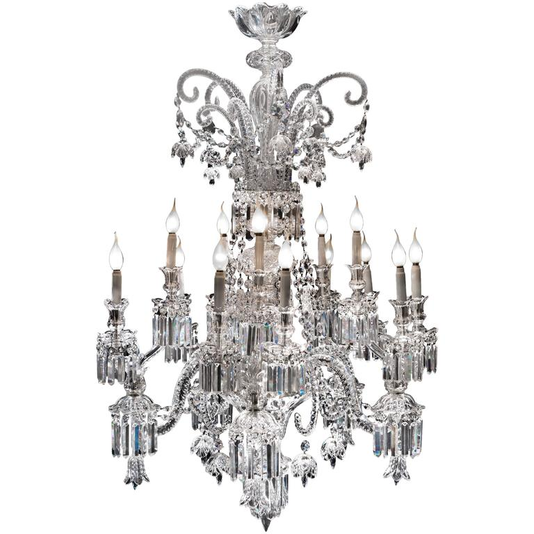Exceptional Crystal Chandelier of Baccarat, France, 1825s