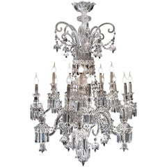 Exceptional Crystal Chandelier of Baccarat, France, 1820s
