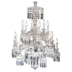 Important Crystal Chandelier of Baccarat, France, 1850s