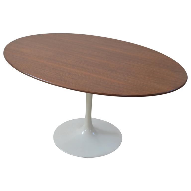 Eero Saarinen Walnut Oval Table For Sale At 1stdibs