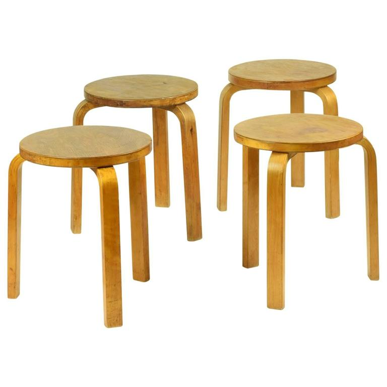 Alvar Aalto Four Stacking Stools 1933 Beautiful Early