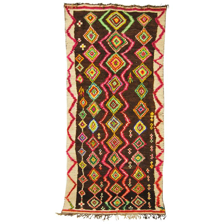 Moroccan Vintage Middle Atlas Rug At 1stdibs: Moroccan Hand Loomed Wool Ourika Rug, Atlas Mountains For