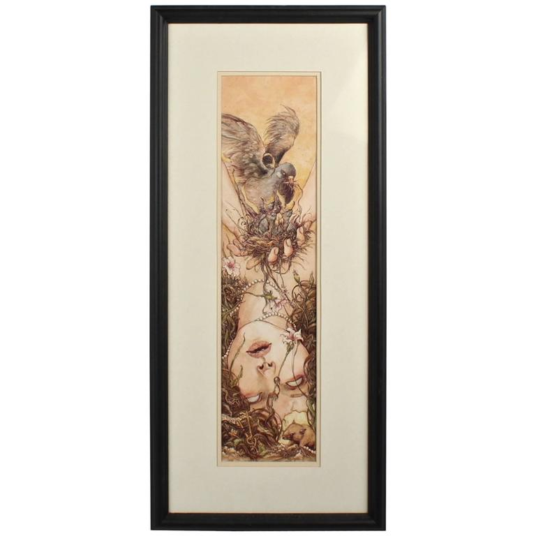 Husk, a Biro, Watercolor and Gouache Painting by Jeremy Hush, 2013