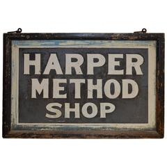 Two-Sided Sign for Shop Created by Martha Matilda Harper, Pioneer of Franchising