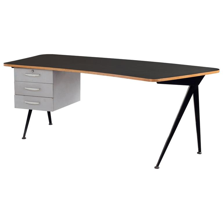 Jean prouv large compas curved desk at 1stdibs - Table basse jean prouve ...