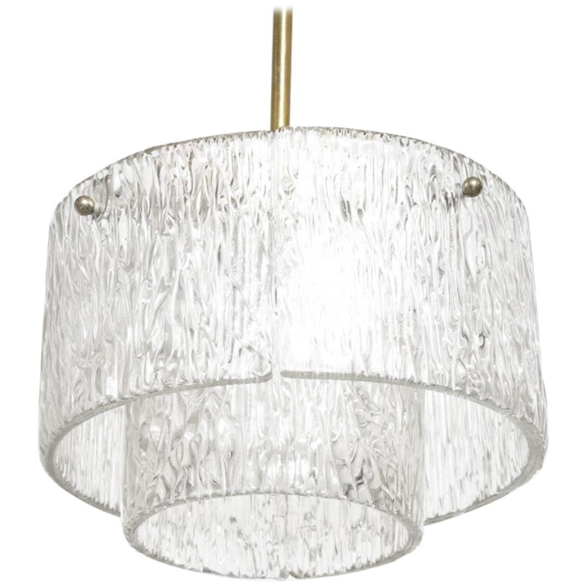 Round Kalmar Textured Glass Chandelier