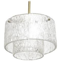 Round Kalmar Textured Glass Chandelier