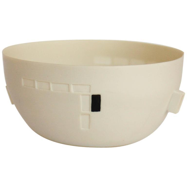 Black and White Porcelain Bowl