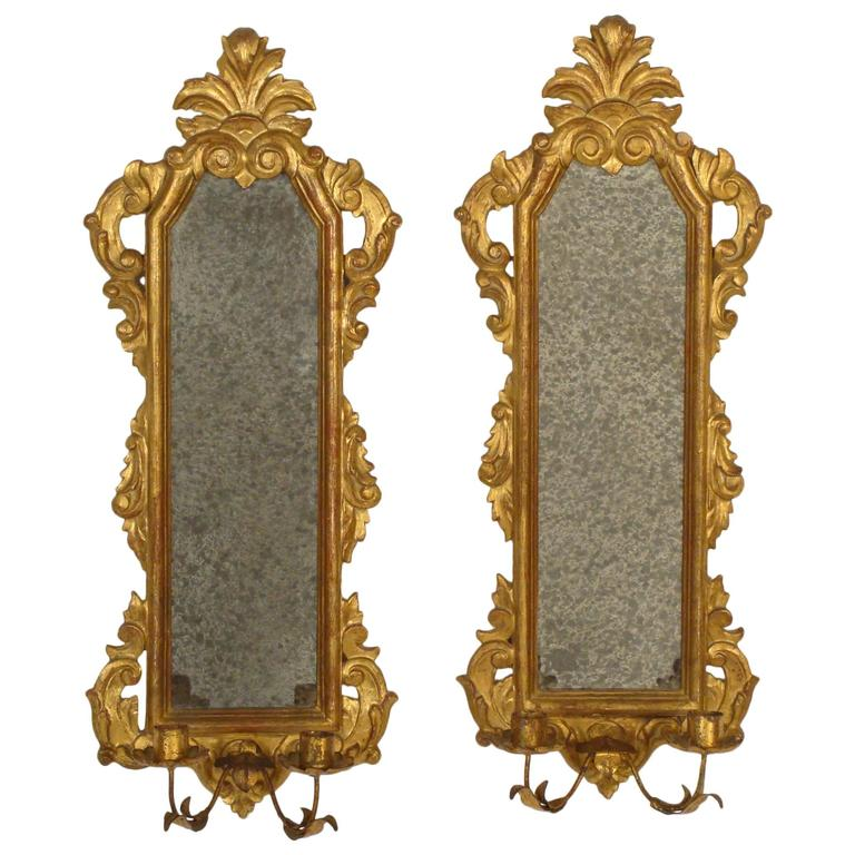 Wall Sconces Italian : Pair of Italian Wall Sconces For Sale at 1stdibs