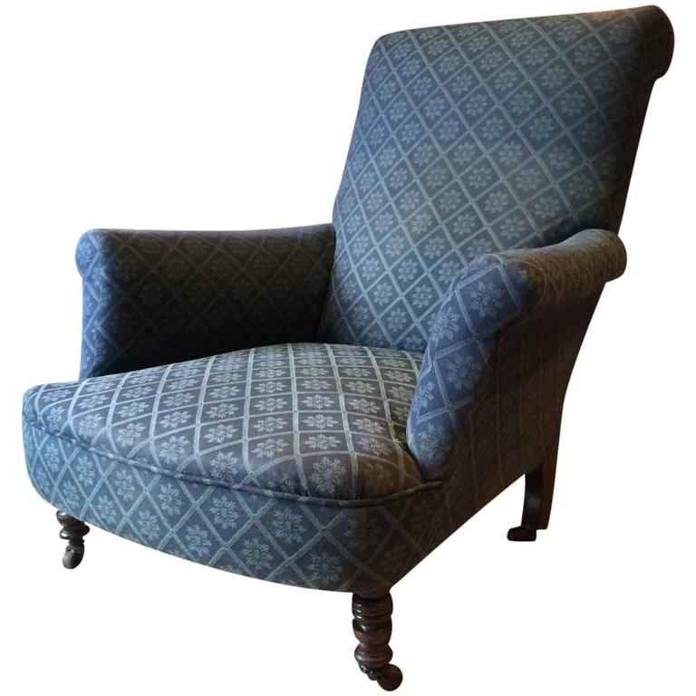Ordinaire Howard U0026 Sons Style Antique Armchair Victorian Mahogany 1800s For  Reupholstery For Sale