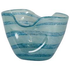 Blue Crumpled Form Barovier Vase