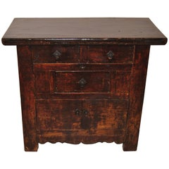 Antique Chinese Coffer with Original Lacquer