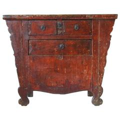 Mid-19th Century Antique Chinese Hand-Carved Coffer