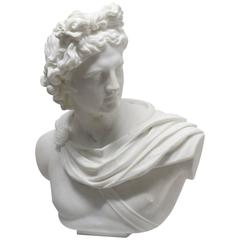 Lifesize Marble Bust of Apollo