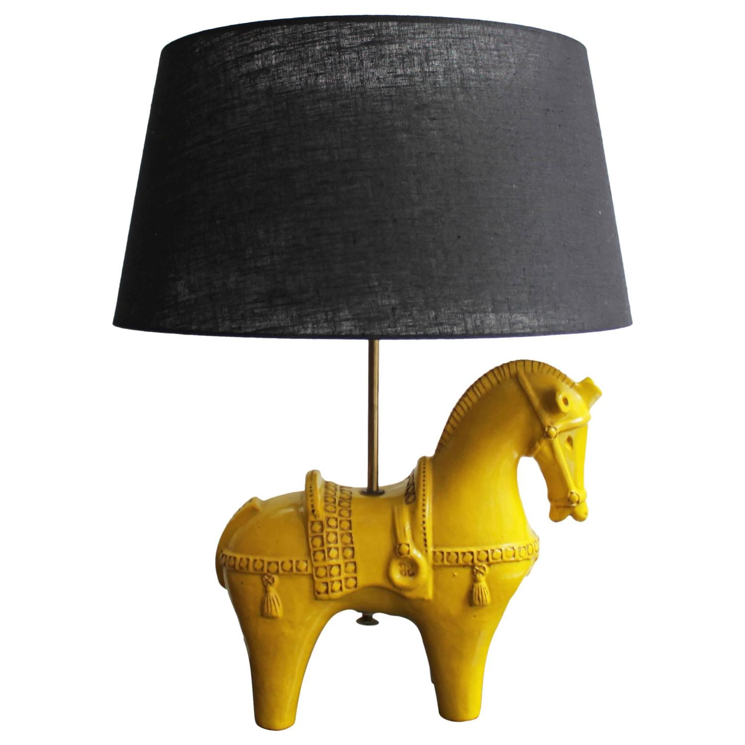 Finest Horse Lamp by Aldo Londi for Bitossi, Italy at 1stdibs ZJ23