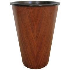 Midcentury Scandinavian Modern Wastebasket or Trash Can