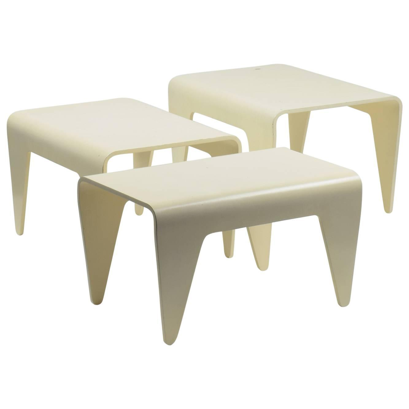 Marcel breuer isokon tables set of three nesting tables for marcel breuer isokon tables set of three nesting tables for isokon 1936 for sale at 1stdibs geotapseo Images