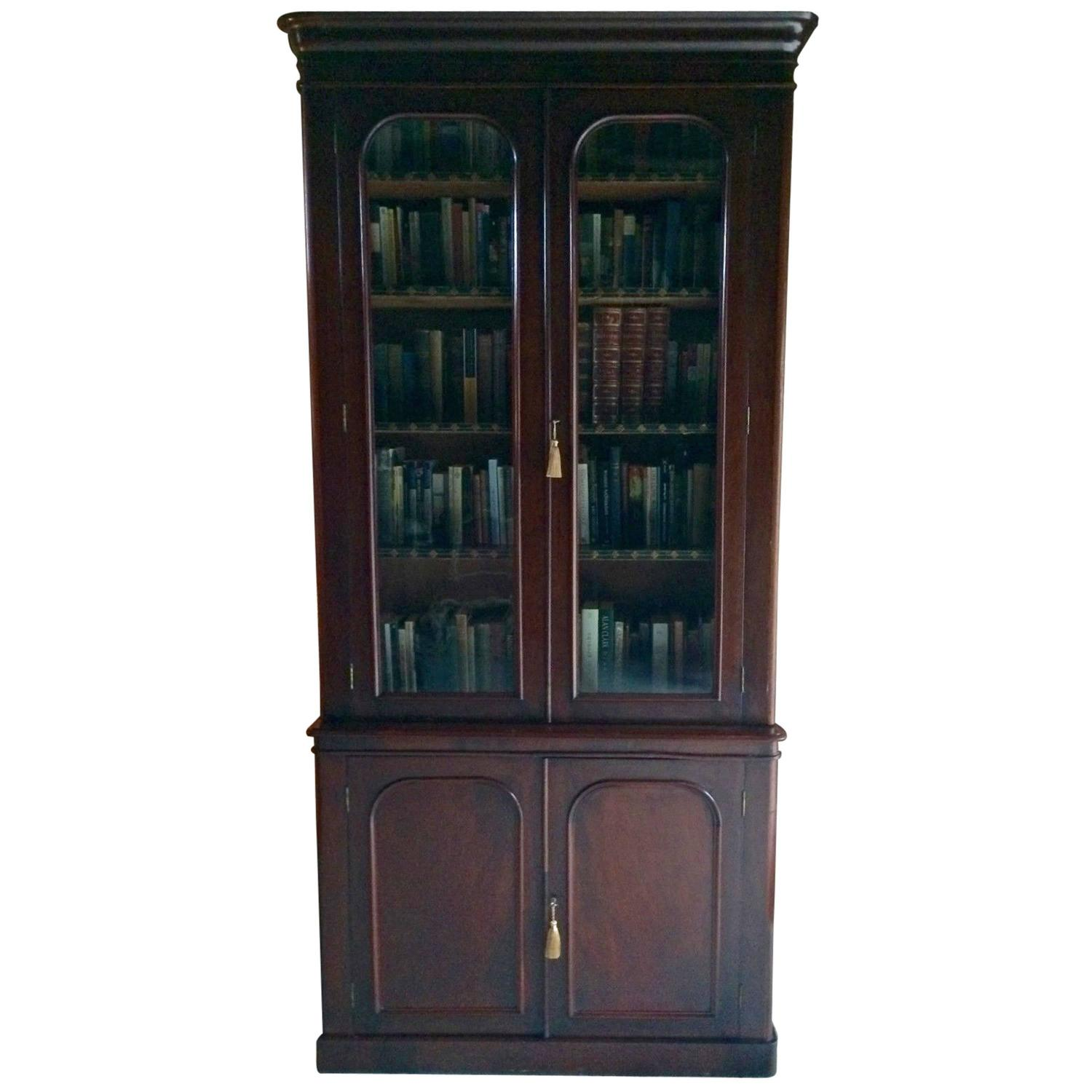 #776454 Antique Bookcase Display Cabinet Mahogany Two Door  with 1500x1500 px of Recommended Mahogany Display Cabinets With Glass Doors 15001500 save image @ avoidforclosure.info