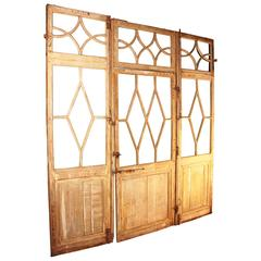 Large Directoire Period Glazed Boiserie Panels with Door