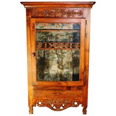 18th Century French Louis XV Wall Cabinet