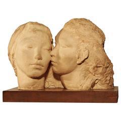 Sculpture of Two Women by Dorothea Schwarcz Greenbaum