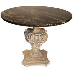 Italian Faux Marble Center Table, 19th Century