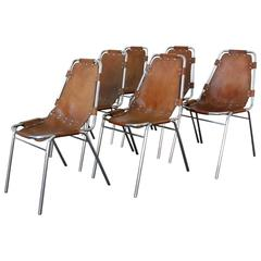 Charlotte Perriand Set of Six Chairs
