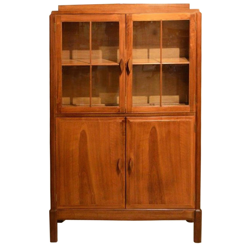 Walnut Arts And Crafts Period Bookcase By The Brynmawr