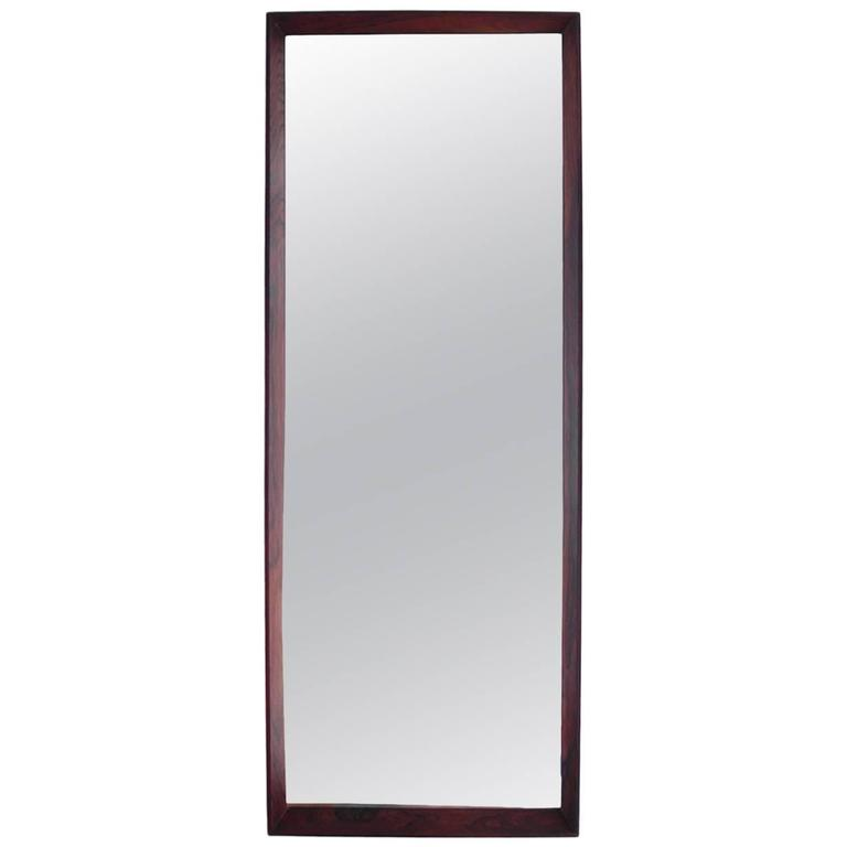 Aksel kjersgaard rosewood mirror at 1stdibs for Espejos de pie conforama