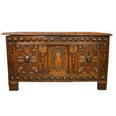 Oak Jacobean Period Antique Coffer
