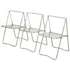 Set of Three Folding Chairs by Rafael Carreras Puigdengolas, circa 1960
