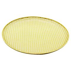 Mathieu Mategot Yellow Enameled Metal Plate, circa 1950 - Free Shipping