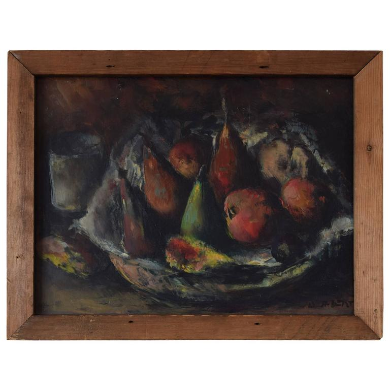 Piotr Filipovich Alberti.  Russian.  Still Life with Fruit. 1950s