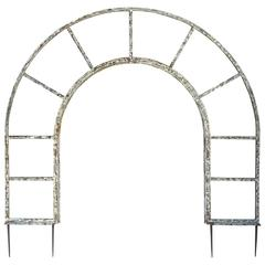 Estate-Sized French Steel Arched Arbor or Trellis