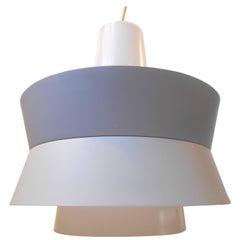 Danish Modern 1970s Grey 'Minimalist' Pendant Lamp by Lyfa, Denmark
