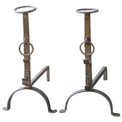18th Century French Andirons, Firedogs