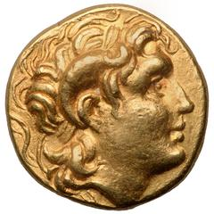 Ancient Greek Gold Coin of Alexander the Great, 281 BC