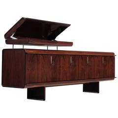 Vittorio Introini Exceptional Freestanding Rosewood Sideboard for Sormani