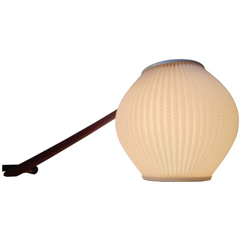 Svend Aage Holm-Sorensen, Beehive Swing Arm Adjustable Wall Lamp Teak Brass