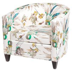 Normandie Club Chair by Philippe Hurel in Hermès Fabric