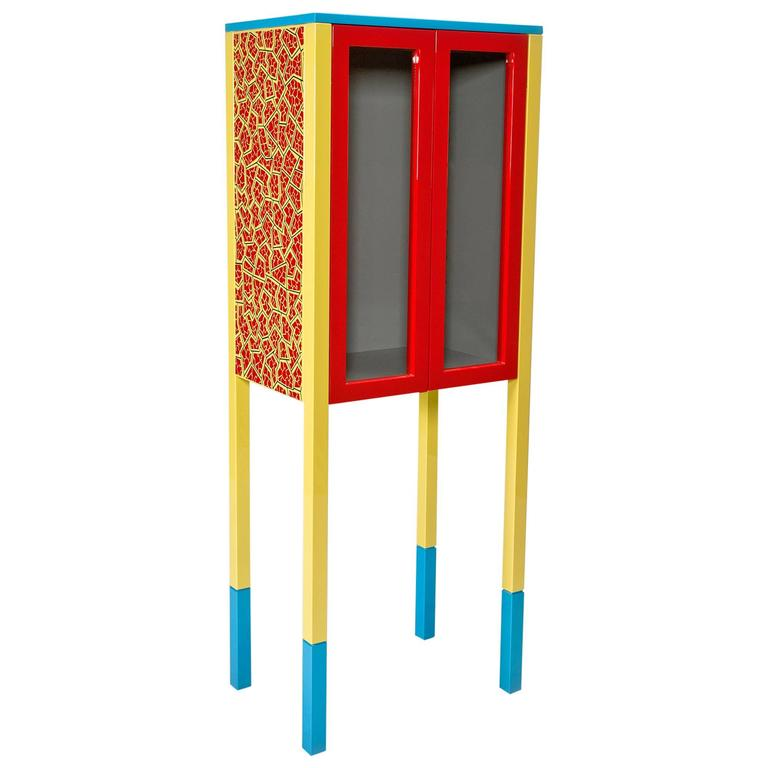 Incroyable Du0027Antibes Cabinet By George Sowden For Memphis For Sale