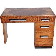Multiple, Burled and Ebonized Original Hastings Art Deco Desk
