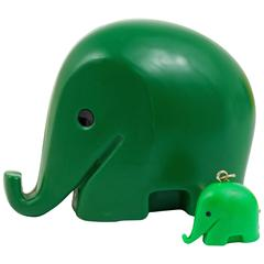 Green Elephant Money Bank Drumbo by Luigi Colani for Dresdner Bank, 1970s