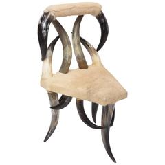 Vintage Steer Horn Chair