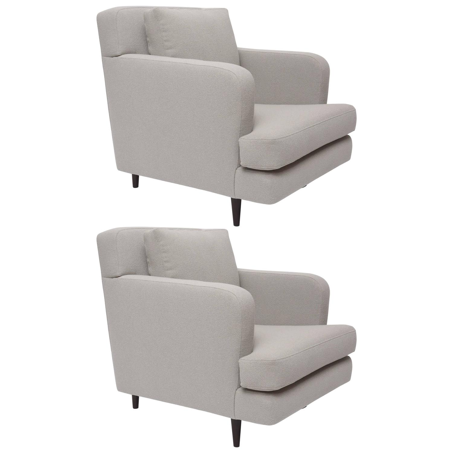 Pair of edward wormley 5683 lounge chairs for dunbar at 1stdibs